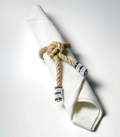 Sailor Knot Rope Napkin Rings