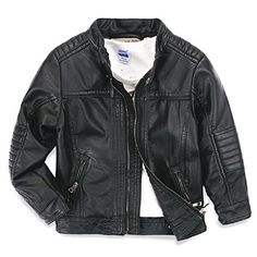 LJYH Boys leather jacket new spring children's collar motorcycle leather zipper coat *** More info @