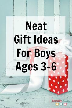 "Neat Gift Ideas for Boys 3, 4, 5, & 6. look high and low with toys that offer the most play value and that will last the test of time. There are a few of the most ""popular"" toys on this list, but there are also lots of things you may have never seen before."