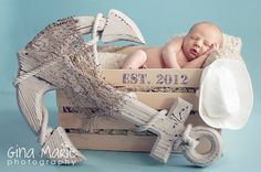 I want to do this with our baby some day! Love the notical theam. Photo credit:It started with a fish - Long Island Newborn Photographer Gina Marie