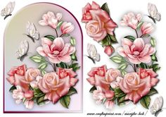 Arch Topper Roses & magnolias - CraftsuPrint