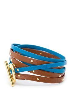 Double Strap Triple Wrap Bracelet.