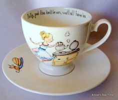 Annie's Tea Time: Whittard Polly Put the Kettle On Cup and Saucer