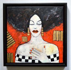 Buy Golden Lady, Obraz olejny by Miroslaw Hajnos on Artfinder. Discover…