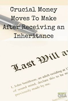 What do you do when you come into a large sum of money or highly valued assets thanks to an inheritance? There are several steps that you should consider taking when you receive an inheritance. Here are just a few things to consider when you receive a large sum of money through an inheritance, a bonus from work, or even winning the lottery.