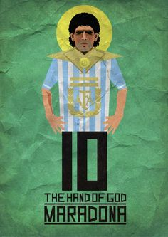 MARADONA: THE HAND OF GOD by Kareem Gouda, via Behance 8-12 April 2014 at #BYU #IC
