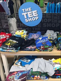 I am not sure if the main driver of this display is clearance of light-weight Summer Tees, or sale of T-Shirts as cold-weather layering for Fall. Then again a trendy Tee makes a great Christmas Gif...