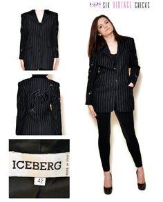 Black Blazer Woman Embroidered Jacket 90s black, Elegant style, / Vintage Woman's Clothing/ Size XL/42 by SixVintageChicks on Etsy