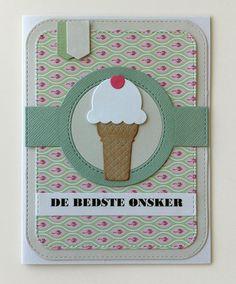 Card  ice cream cone icecream MFT Sweet Treats Die-namics, MFT Blueprints 31 Die-namics  #mftstamps - JKE