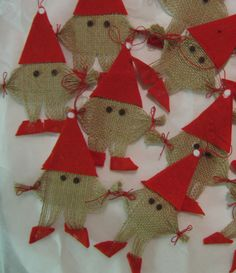 Advent, Textile Fabrics, The Elf, Elves, Art Projects, Things To Do, Arts And Crafts, Christmas Tree, Holiday Decor