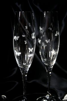 Butterfly Champagne Flutes.