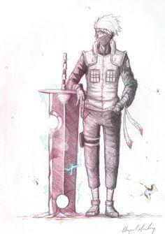 sketches Naruto: Shippuden drawings manga lightning Kakashi Hatake swords wallpaper background