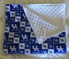 Kentucky Minky Dot Baby Blanket by TooterBugDesignss on Etsy
