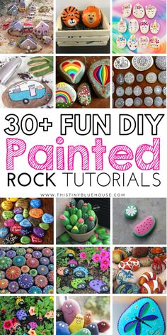 here are 30 fun painted rock ideas that will provide hours of fun! These creative and unique painted rocks are a perfect family friendly activity. Rock Painting Patterns, Rock Painting Ideas Easy, Rock Painting Designs, Rock Painting For Kids, Rock Crafts, Diy Crafts To Sell, Fun Crafts, Crafts For Kids, Sell Diy