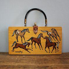 enid collins box purse, horses, Horse Play