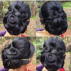 Bun Bride Hairstyles, Elegant Hairstyles, Formal Hairstyles, Hair Art, Bridal Hair, Bridesmaid Hair, Prom Hair, Hair Upstyles, Natural Hair Styles