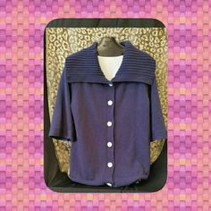 Ann Taylor SAMPLE Sweater Button down sweater with floppy collar Ann Taylor Sweaters Cardigans