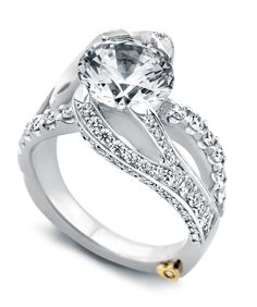 Breathtaking is indeed what this ring is.  Woah. Breathtaking Engagement Ring - Mark Schneider Design