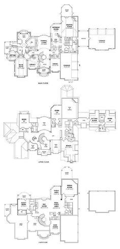 Stonecrest Manor Floorplans for all 3 levels - 11,00 square feet