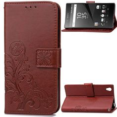 Gray Sun Pattern Embossed PU Leather Magnetic Flip Cover Card Holders /& Hand Strap Wallet Purse Case for Sony Xperia Z5 A-SLIM Xperia Z5 Wallet Case, TM