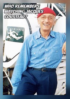 ✿Jacques-Yves Cousteau aboard the Calypso ✿ Jacques Yves Cousteau, Nostalgia, Old Tv Shows, Red Hats, The Good Old Days, Good People, Childhood Memories, Childhood Toys, Famous People