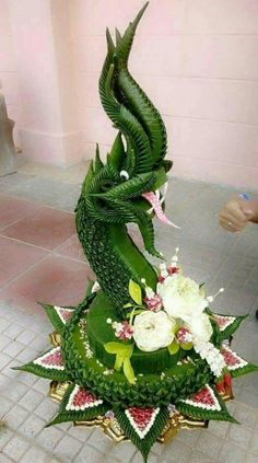 ❥●❥ ♥ ♥❥●❥ Flower Garland Wedding, Flower Garlands, Flower Decorations, Unique Flower Arrangements, Unique Flowers, Leaf Design, Floral Design, Flower Shop Decor, Thai Decor
