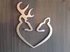 """Unique Design comes to play with INSPIREMEtals Etsy shop. Custom made """"Deer to my heart"""" make this great for any hunter, cabin o..."""
