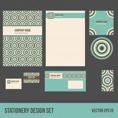 Diseño de papelería corporativa Vector Premium