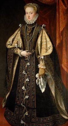 Anne d'Autriche (1549–1580), Reine Consort d'Espagne. Peintre : Alonso Sánchez
