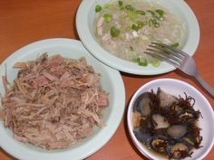 Kalua pig, chicken long rice, and opihi (local delicacy!)