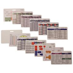 Complete Horizontal Set of 13 cards for Nurse Paramedic EMT for ID Badge Clip Strap or Reel Ecg on Etsy, $19.99
