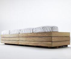 12 Creative Wood Pallet Sofa Design Ideas : Picturesque Bonacina FourSeater Wood Pallet Sofa Design Inspiration for Cheap Modern Living Room...