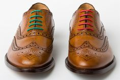 Colored laces to spruce up your Monday through Friday brogues. A pack of four from hook + Albert runs you $32.