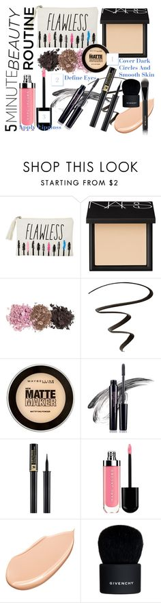 """""""5 Minute Makeup Routine"""" by xo-madison ❤ liked on Polyvore featuring güzellik, dELiA*s, NARS Cosmetics, COVERGIRL, Maybelline, Avon, Lancôme, Shiseido ve Givenchy"""