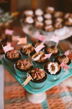 sweet cupcake toppers | Emily Weis #wedding