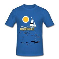 Typisches Bodensee T-Shirt  mit schmackhaften Bodensee-Felchen.