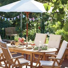 Garden Furniture Homebase roscana teak wooden 6 seater dining set: image 2   garden