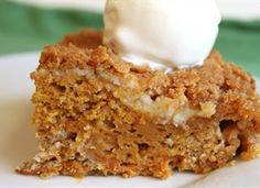 Pumpkin Cheesecake Cobbler from Tablespoon. http://punchfork.com/recipe/Pumpkin-Cheesecake-Cobbler-Tablespoon
