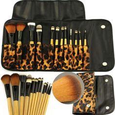 I'm auctioning '12pcs Makeup Brushes Set Powder Foundation Eyeshadow Eyeliner Brush kit Case Bag' on #tophatter