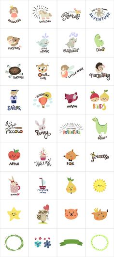 Logo creator for kids by Magic & Dreams on @creativemarket