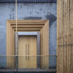 Best Ideas For Architecture and Modern Design : – Picture : – Description Bamboo Courtyard House by Harmony World Consulting Design Entrée, Door Design, Exterior Design, Interior And Exterior, Modern Design, House Design, Entrance Design, Design Elements, Bamboo Architecture