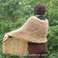 ABC Knitting Patterns - Cozy Mohair Wrap.