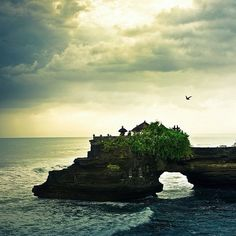 Bali / Summer / Ocean / Landscape: The temple shown is Tanah Lot temple. This landscape was shot in Indonesia Bali. Places Around The World, Oh The Places You'll Go, Travel Around The World, Places To Travel, Places To Visit, Around The Worlds, Travel Destinations, Bali Lombok, Beautiful World