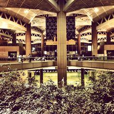 Photo taken at King Khalid International Airport (RUH) by Ahmed A. Riyadh Saudi Arabia, Jeddah, Khalid, International Airport, Aeroplanes, King, Airports, Mansions, House Styles