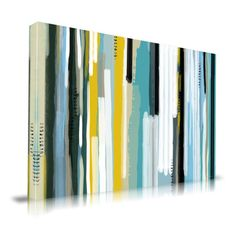 For above our bed!!!   Found it at AllModern - Ocean Abstract Painting Print on Wrapped Canvas