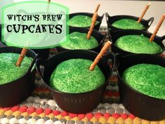 Witch's Brew Halloween Cupcakes