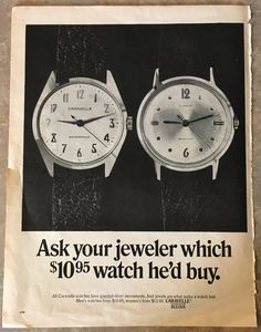 Vintage, Caravelle Watches, Division of Bulova, 1960's, Magazine Advertisement. by VintageNprints on Etsy https://www.etsy.com/listing/557123756/vintage-caravelle-watches-division-of