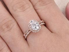 This Moissanite engagement ring Vintage engagement ring set Diamond is just one of the custom, handmade pieces you'll find in our engagement rings shops. Dream Engagement Rings, Engagement Ring Settings, Vintage Engagement Rings, Vintage Rings, Wedding Engagement, Intricate Engagement Ring, Oval Engagement, Engagement Ideas, Gold Diamond Wedding Band