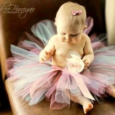Handmade baby tutu soft and fluffy!  Can be made in any size and length, perfect for birthdays and portraits.