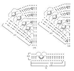 """Cornerpiece / DROPS Extra 0-1308 - Poncho DROPS em croché, com ponto de leques, crochetado de cima para baixo, em """"Merino Extra Fine"""". Do S ao XL. - Free pattern by DROPS Design"""